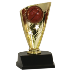 Banner Style Basketball Trophy